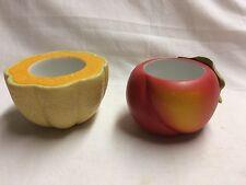 Partylite- Peach and Melon Votive Holders