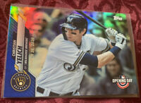 Christian Yelich 2020 Topps Opening Day Blue Foil Card # 163, Milwaukee Brewers