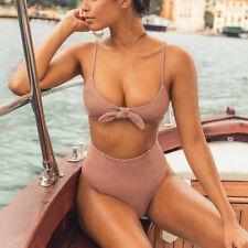 Womens Padded Push Up Bikini Sets High Waisted Swimsuit Bathing Suit Swimwear US