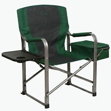 Kamp-Rite Director's Chair Outdoor Camping Folding Chair w/ Side Table & Cooler
