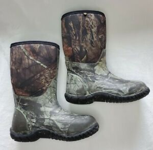 Bogs Youth Size 2 Hunting Boots Camo Camouflauge Waterproof Boys Classic High