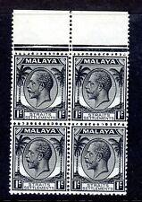 MALAYA - STRAITS   1936-37  SG 260   BLOCKS OF 4   mnh UM   marginal