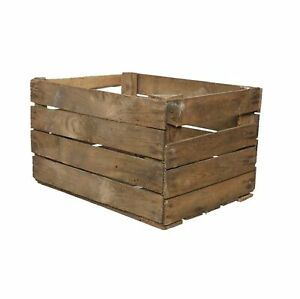 Solid Wooden Apple Crate Box Rustic Used Apple Crate Single 50cm x 40cm x 30cm