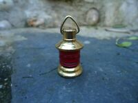 Miniature Ships Port Red Lamp For dolls house Hand Made From Brass Light Gift