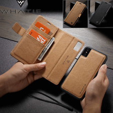 iPhone Xs Max Xr X 6 7 8 Leather Removable Wallet Magnetic Flip Case Card Cover