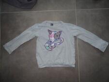 T-shirt manches longues gris brodé chien ZARA Kids Taille 4 ans