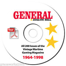 General Magazine-Avalon Hill-ALL 200 Vintage issues-War Boardgame-Gaming-PDF DVD