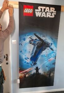 Star Wars LEGO 197cm SHOP DISPLAY fabric banner new in packaging + hanging kit
