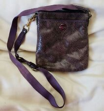 Coach Bag Crossbody Embossed Python Embossed Leather Purple