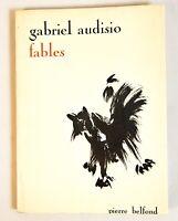 🌓 EO Gabriel AUDISIO   Fables   1966   envoi autographe signé à Francis Ponge
