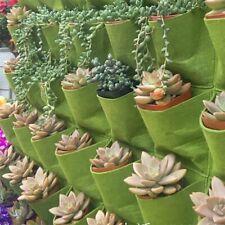 Mr.Garden® Vertical Garden Grow Bag, Wall Hanging Planter Bag 25 Pocket,Green