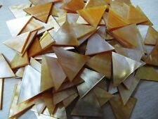 MOP  Seahells  1 inch TRIANGLE shape  plate /chips  wow!!!