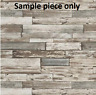 Sample for Wood Weathered Effect Wallpaper Wooden Panel Board Faux Grey Erismann