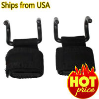 POWER WEIGHT LIFTING TRAINING GYM STRAPS HOOK BAR WRIST SUPPORT LIFT WRAPS PAIR