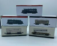 Lot of 5 New In Box Southern Pacific Locomotive, Hopper Car, Piggyback Trains