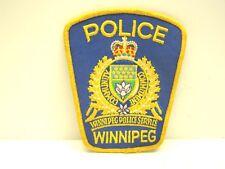 Winnipeg Police Patch Obsolete