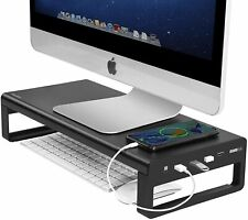Vaydeer Monitor Stand with 4 USB 3.0 Ports, Metal Computer Stand Riser for Desk,