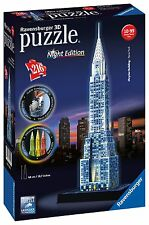 NEW! Ravensburger 3D Puzzle Chrysler Building Night Edition 216 piece jigsaw