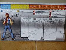 ZOMBICIDE-CHAZ-PERSONAGGIO dashboard CARD (solo scheda)