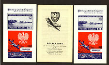 Polpex 1944 Air Battle Britain Souvenir Sheet set, perf + imperf. Mnh (Ss44)