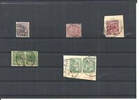 DAP, CHINA, 1886 - 1901, Einzelmarken aus MiNrn: V 37 - V 50 o, gestempelt