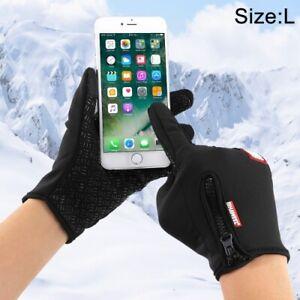 Herren Outdoor Sport Windstopper Handschuhe ,mit 2 Finger Touchscreen Gewebe (L)