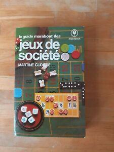 Le Guide Marabout des jeux de société - Martine Clidière (1983)