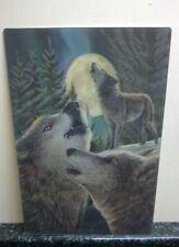 3D POSTCARD Gothic Art Lisa Parker WOLF SONG Wolves Moon  Size 10x15 cm appx