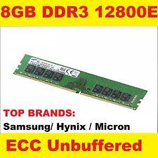 8GB DDR3 1600MHZ PC3-12800E ECC Unbuffered RAM MEMORY HP Equivalen HP 669324-B21