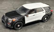Greenlight 1/64 2020 Ford PI Utility Police SUV BLANK BLACK & WHITE 51331B