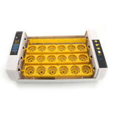 New listing Full Automatic Poultry Incubator with Egg Candler Injector Single Supply Us Plug