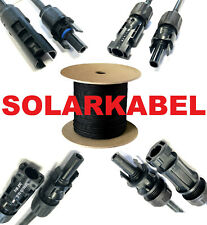 Solarkabel 4 - 6mm² Photovoltaik PV Kabel 1 - 100m Amphenol Tyco MC4 Stecker