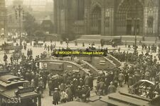 rp11095 - UK Tanks by Cologne Cathedral , Germany in 1919 - photograph