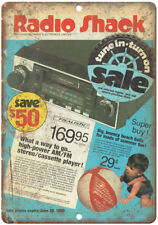 "Radio Shack Realistic CB AM/FM Car Stereo 10"" x 7"" Reproduction Metal Sign D47"