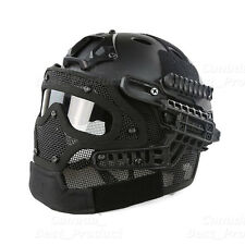 Tactical Protective Googles G4 System Full Face Mask Helmet Airsoft Paintball BK