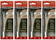 FOUR (4) Fisher Space Pen SPR Series Red Ink / Fine Point Refills #SPR2F