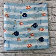 Disney's Finding Nemo Dory Crib Toddler Flat Sheet Nursery Fabric