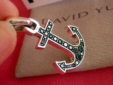David Yurman Maritime Anchor Amulet Pendant w/Black Diamonds SterlingSilver $749