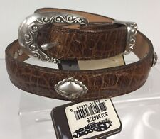Nocona Size 26 Womens Brown Leather Concho Belt Made In Texas I14