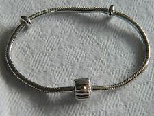 Clogau Silver & 9ct Welsh Gold Barrel Milestones Bead Charm Bracelet 19cm