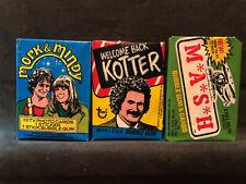 3 Vintage Mork & Mindy/M*A*S*H/Kotter wax packs - Unopened