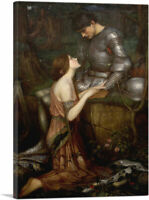 ARTCANVAS Lamia and The Soldier 1905 Canvas Art Print by John William Waterhouse