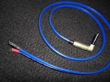 "SPEAKER CABLE 1/4"" M90 SPADE F 4' 12 GAUGE CUSTOM Amp MALE Lead wire cord Guitar"