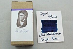Organics Studio Ralph Waldo Emerson Twilight Blue Fountain Pen Ink