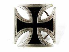 2000 Iron Cross Pewter Black Enamel Belt Buckle By GABC 81716