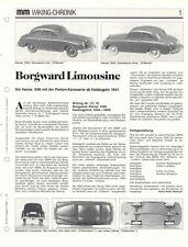WIKING CHRONIK BORGWARD ARABELLA und HANSA LIMOUSINE , von 1992