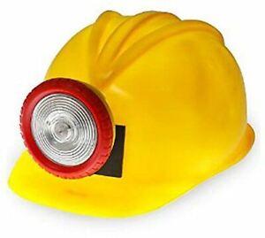 Construction Miner Helmet with Light - Plastic - Costume Accessory - Adult Teen
