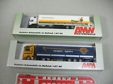 AK954-0,5# 2x AWM H0 LKW/Sattelzug LKW: 71605 ASG+5521-1 Ehinger, OVP