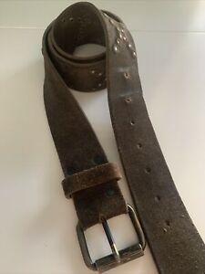 Mens Soft Leather / suede All Saints Belt