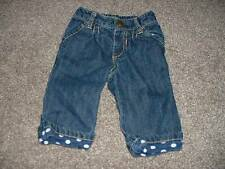 Old Navy Baby Girls Denim Jeans Pants Navy Polka Dot Size 3-6 Months mos Fall